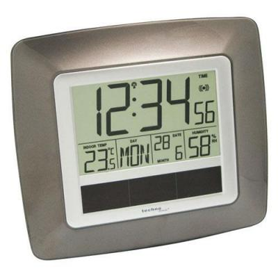 Technoline wekker: Solar Radio Controlled Wall Clock