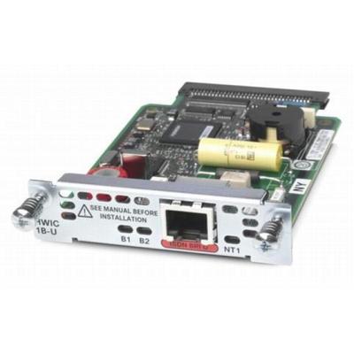 Cisco switchcompnent: HWIC-1B-U - Groen, Zilver