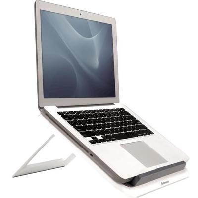 Fellowes notebooksteun: Quick Lift laptopstandaard, wit - Grijs, Wit