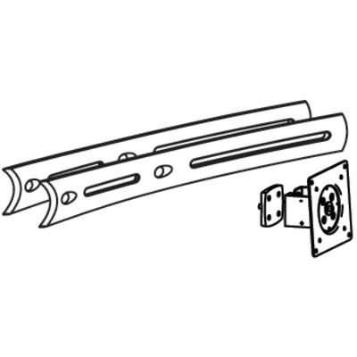 Ergotron DS100 Crossbar Extender, Long Montagekit - Zwart