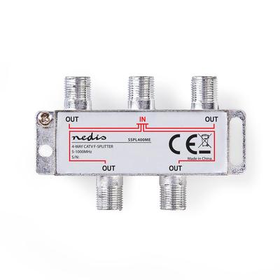 Nedis SSPL400ME Kabel splitter of combiner - Zilver