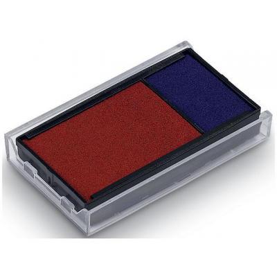 Trodat stempel inkt: Inktkussen 64912 blauw/rood/pak 2