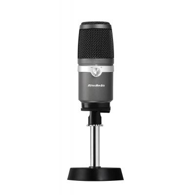 AVerMedia AM310 Microfoon - Zwart, Zilver