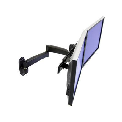 Ergotron 200 Series Dual Monitor Arm Monitorarm - Zwart