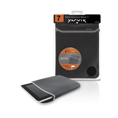Yarvik tablet case: Tablet Neoprene Sleeve 7i Grey/Black - Zwart, Grijs