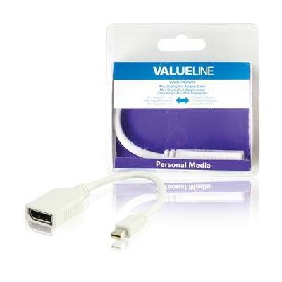 Valueline Mini DisplayPort/DisplayPort, 0.2m - Wit