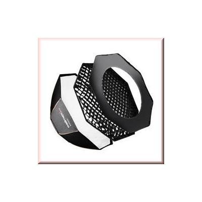 Walimex softbox: pro Octagon SB PLUS OL Ø90 Visatec - Zwart