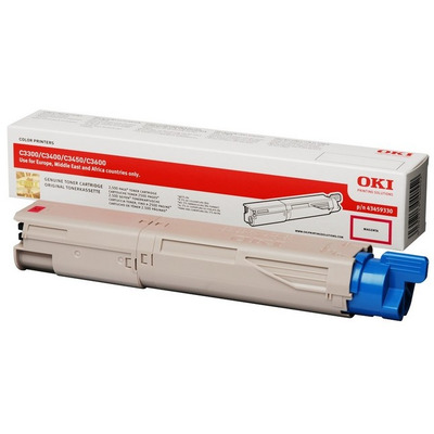 Magenta Toner Cartridge 2500p. for OKI C3300n/C3400n/C3450/C3600