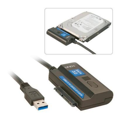 Lindy USB 3.0/SATA 3.0 Docking station - Zwart