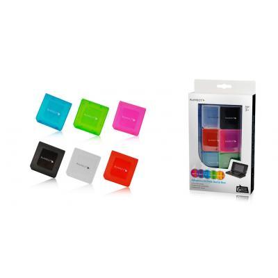 Playfect spel accessoire: Advanced 6-Pack Game Box for 3DS,DS Lite,DSi and DSi XL - Multi kleuren
