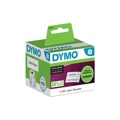 DYMO LW - Small Name Badge Labels - 41 x 89 mm - S0722560 Etiket - Wit