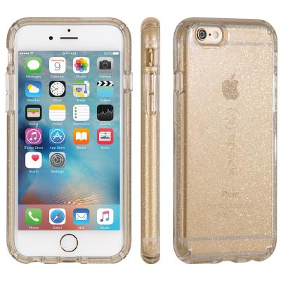 Speck apparatuurtas: iPhone 6 / 6s CandyShell (Clear / Beaming Orchid Gold Glitter)
