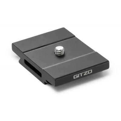Gitzo statief accessoire: Short D Profile Aluminum Quick Release Plate, 45g - Zwart, Roestvrijstaal