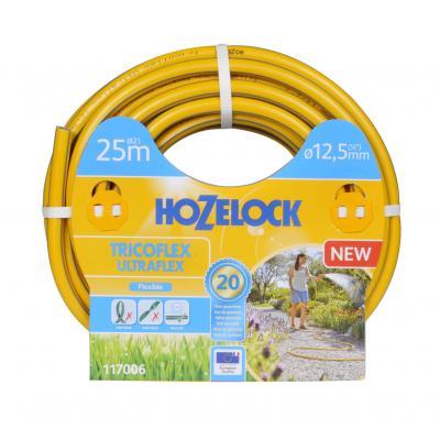 Hozelock tuinslang: Tricoflex Ultraflex slang  Ø 12.5 mm 25 meter - Grijs, Geel