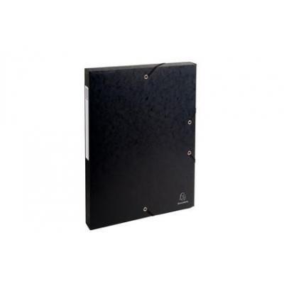 Exacompta archiefdoos: Archiefdoos Rug 25mm versterkt karton - A4 - Zwart