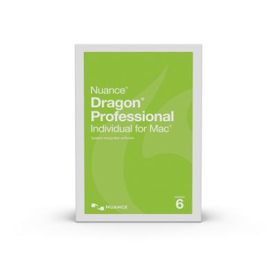 Nuance stemherkenningssofware: Dragon Professional Individual For Mac 6 Upgrade