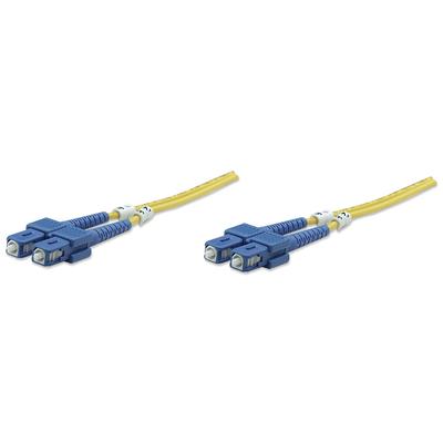 Intellinet Fibre Optic Patch Cable, Duplex, Single-Mode, SC/SC, 9/125 µm, OS2, 10m, LSZH, Yellow Fiber optic .....