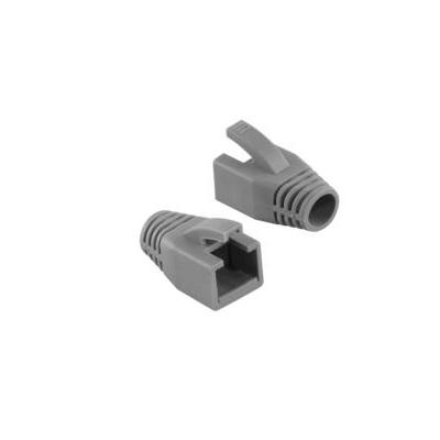 Logilink kabelbeschermer: Strain Relief Boot 8.0 mm for Cat.6 RJ45 plugs - Grijs