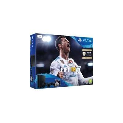 Sony spelcomputer: PlayStation 4 1TB Fifa 18 Ronaldo Edition - Zwart