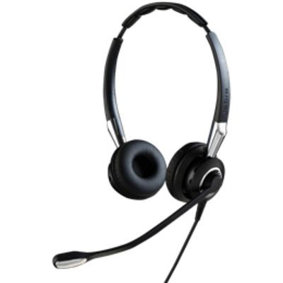 Jabra headset: Biz 2400 II QD Duo NC - Zwart, Zilver