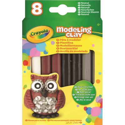Crayola kinder modellering verbruiksartikel: 8 sticks Modelling Clay - Neutral Color - Multi kleuren