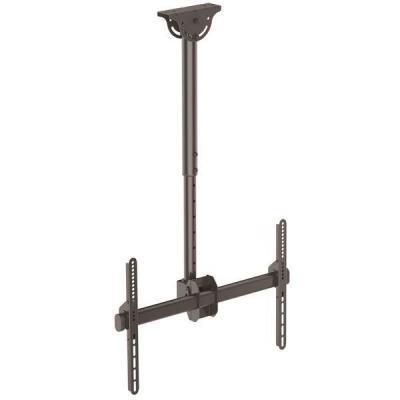 Startech.com flat panel plafond steun: Plafondbeugel voor platte tv volledig beweegbaar robuust staal - Zwart