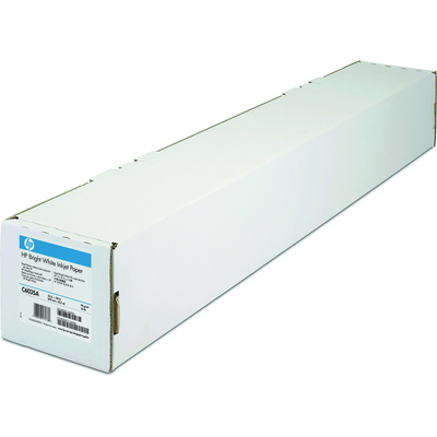 HP Bright White Inkjet papier, 90 gr/m², 610 mm x 45,7 m Grootformaat media