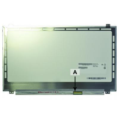 "2-power notebook reserve-onderdeel: 39.624 cm (15.6 "") 1920x1080 WUXGA LED HD Matte - Wit"