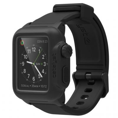 Catalyst : Case for 42mm Apple Watch, IP-68, Premium Silicone Wrist Strap, 35g, Black - Zwart