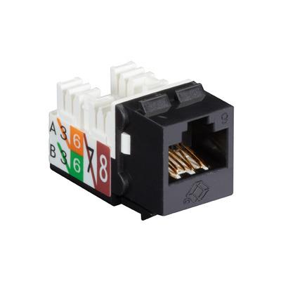 Black Box GigaTrue® 2 UTP Cat6 Keystone Jack - 110 Punchdown Type - Zwart