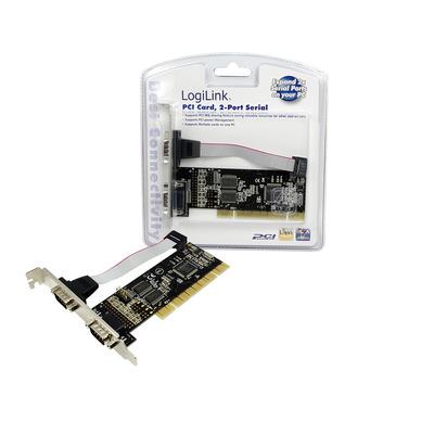 LogiLink PCI Serial card Interfaceadapter - Groen
