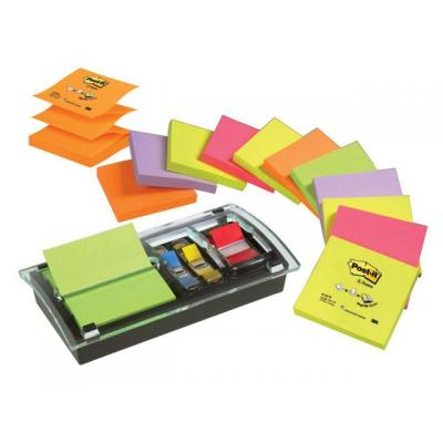 Post-It DispenserZ-note + Index acryl brievenbak