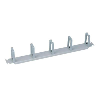 "LogiLink 19"" Cable Management Bar 1U with 5 turnable plastic brackets, Grey Rack toebehoren - Grijs"