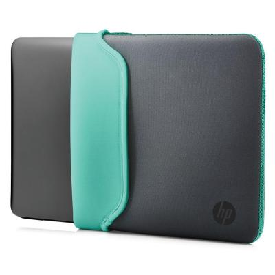 """HP 15.6"""" Neoprene Sleeve Gray/Green Laptoptas - Groen, Grijs"""