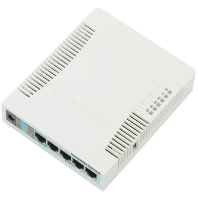 Mikrotik Wireless (2.4GHz, 802.11b/g/n), 5 x Gigabit Ethernet LAN RJ-45, 1 x USB 2.0, Atheros AR9344 600MHz, .....
