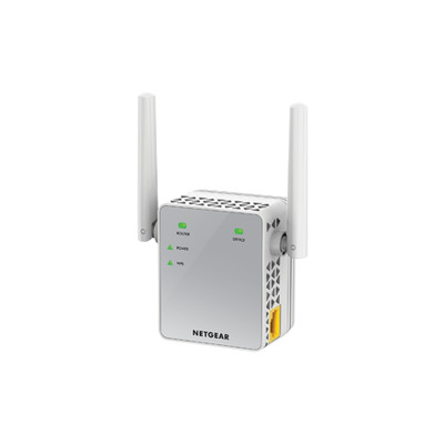 Netgear netwerk verlenger: EX3700 WiFi Range Extender AC750, Dual-Band - 1 Fast Ethernet poort - Wit
