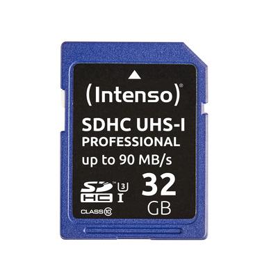 Intenso 32GB SDHC Flashgeheugen - Blauw