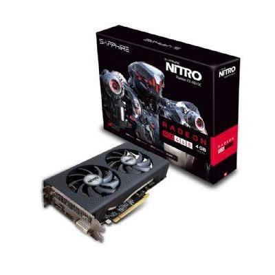 Sapphire videokaart: Rade RX 490, PCI-Express 3.0, 4GB DDR5, 128-bit, 1 x DVI-D, 1 x HDMI 2.0b, 1 x DisplayPort 1.4 - .....