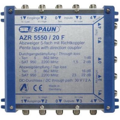Spaun AZR 5550/20 F Kabel splitter of combiner - Blauw
