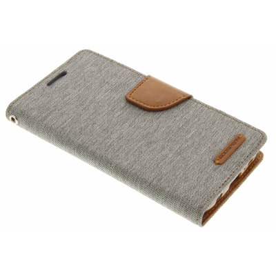 Canvas Diary Booktype Samsung Galaxy S7 - Grijs Mobile phone case