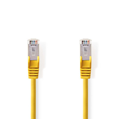 Nedis Cat5e, SF/UTP, PVC, Gigabit Ethernet, 27AWG, Yellow, 0.25m Netwerkkabel - Geel