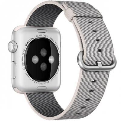 Apple : 42mm Pearl Woven Nylon - Grijs