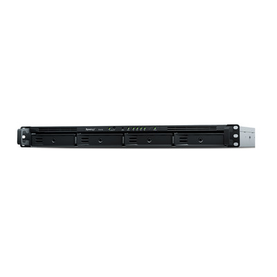 "Synology RX418, 4-sleuven, 1U, 4x 3.5/2.5"" HDD/SSD, eSATA, 100 W PSU, 480x325x44 mm SAN - Zwart, Grijs"