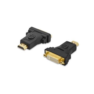 Ednet HDMI - DVI-I, 1920 x 1200, 60 Hz Kabel adapter - Zwart