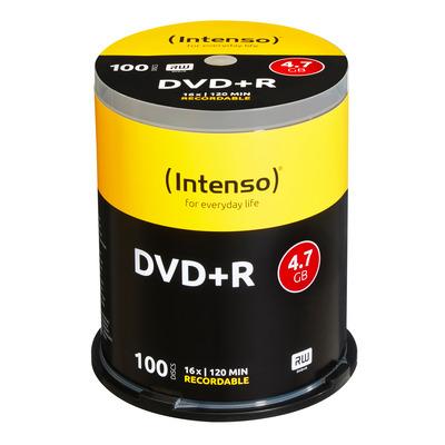 Intenso DVD+R 4,7GB, 16x Speed, cakebox 100pcs DVD