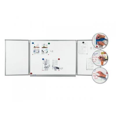 Legamaster magnetisch bord: Whiteboard triptiek Lega em. 150/100x75