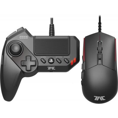 Hori game controller: Gamepad/Mouse Hybrid Controller, 5-Button, PlayStation 4, PlayStation3, PC - Zwart