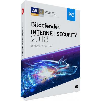 Bitdefender firewall software: Internet Security 2018 (1 Jaar / 5 Devices)