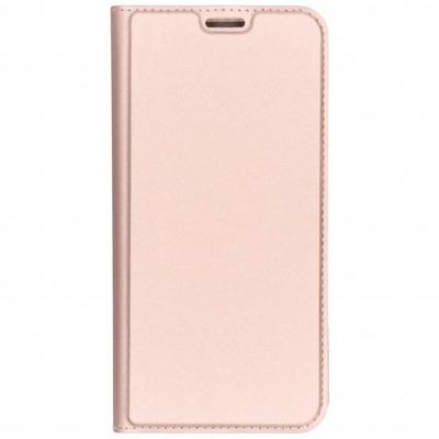 Slim Softcase Booktype Samsung Galaxy J4 Plus - Rosé Goud / Rosé Gold Mobile phone case