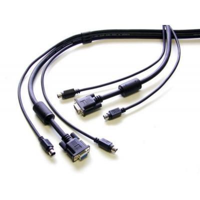 Newstar KVM kabel: De SVPS23N1-15 is een 3-in-1 KVM switch kabel van 5 meter. Hiermee sluit u een KVM switch aan op een .....